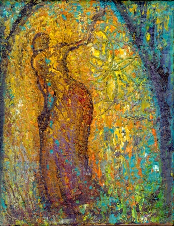 Inanna in Her Garden, painting by Judith Shaw