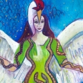 Corra, celtic goddess art