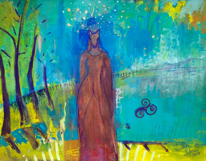 Horse-woman-shapeshifter-painting-by-judith-shaw