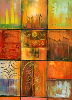 Variations-on-a-minoan-theme-painting-by-judith-shaw
