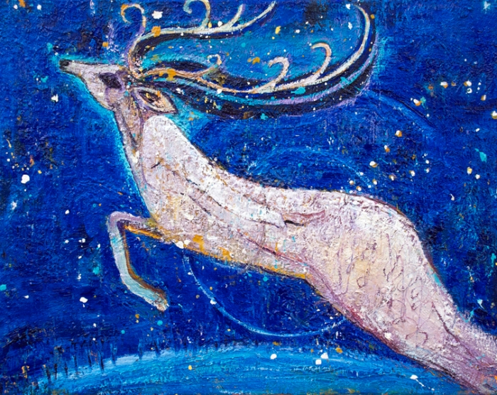 Flight-of-the-Reindeer-Goddess-painting-by-judith-shaw