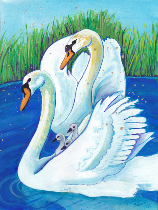 Swam-Symbol-of-Love-and-Partnership-by-Judith-Shaw