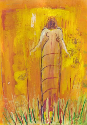 Bee-Goddess-Gathers-her-children-painting-by-judith-shaw