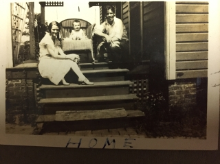 My grandparents and mother at their home in 1929.