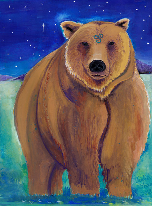 Bear-spirit-guide-painting-by-judith-shaw