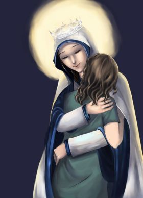 mother mary embrace