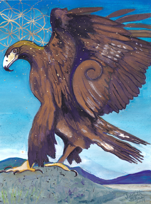 Eagle-spirit-guide-painting-by-judith-shaw