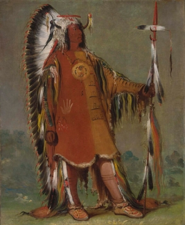 Native-american-chief-war-bonnet-george-catlin