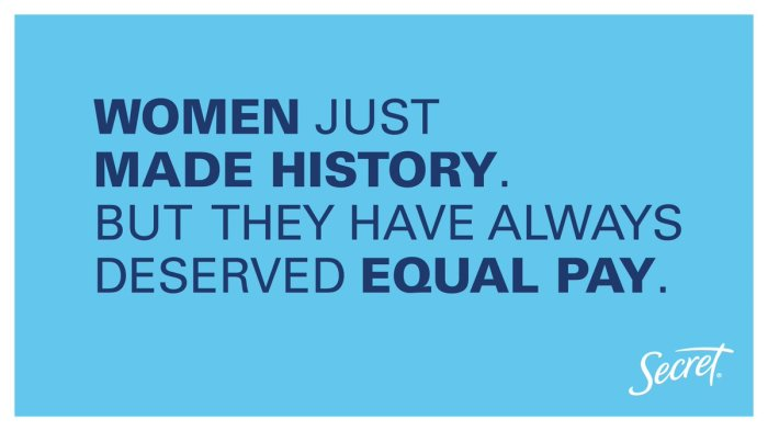 secret equal pay ad