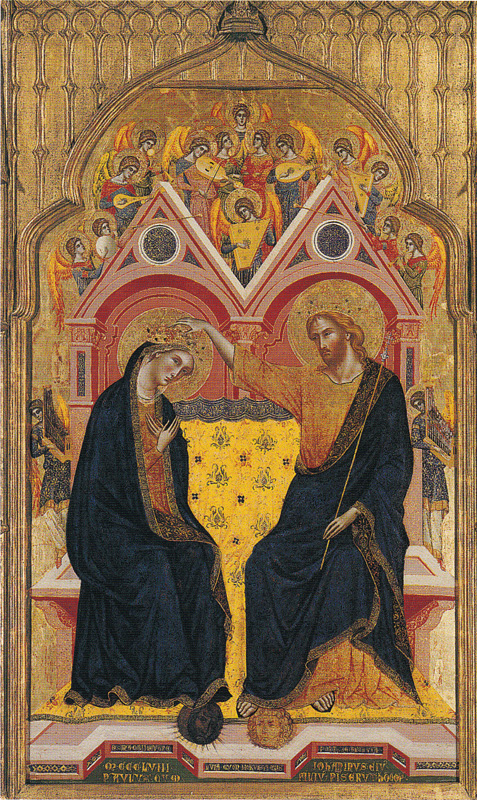 medieval-painting-Coronation of the Virgin