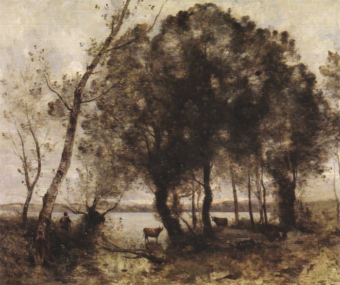painting-by-Corot-the-lake