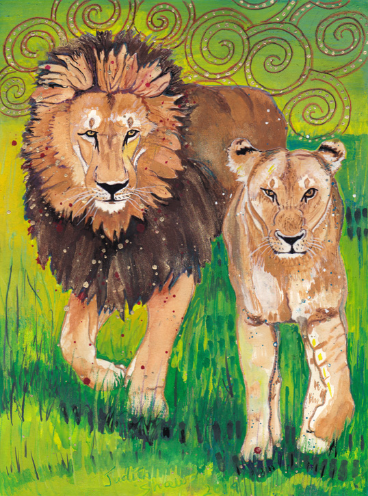 lion-spirit-guide-painting-by-judith-shaw