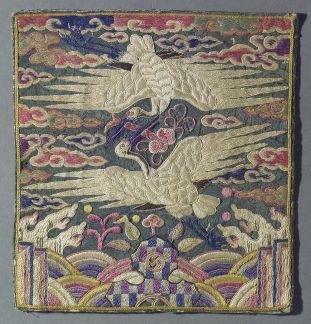 chinese robe Crane rank badge