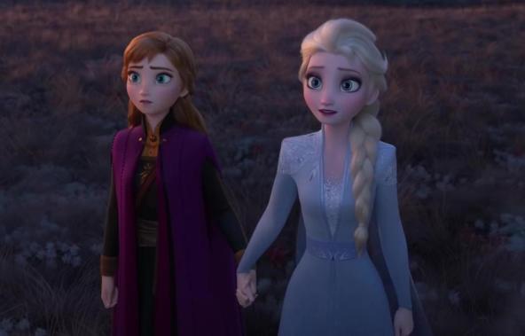 frozen 2 holding hands