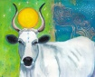 Cow, Nursemaid to Humanity painting by Judith Shaw