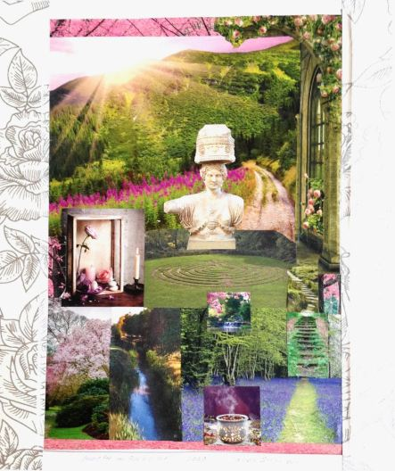 Demeter in Springtime. Collage by Laura Shannon