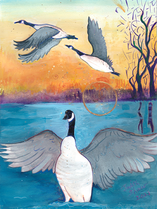 Sacred-Goose-painting-by-judith-shaw