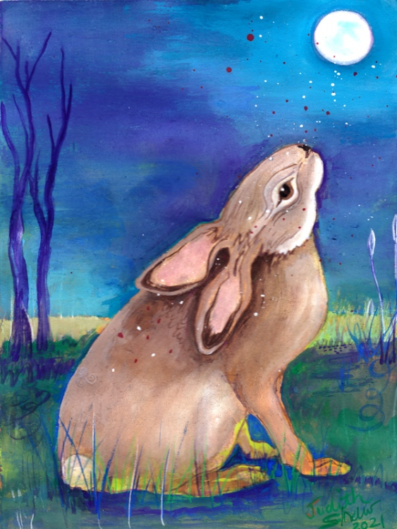 Moon-Rabbit-painting-by-Judith-Shaw